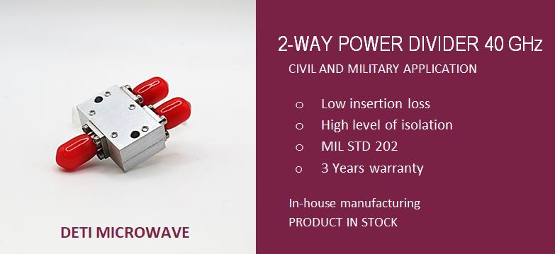 DETI Microwave 2 way power divider