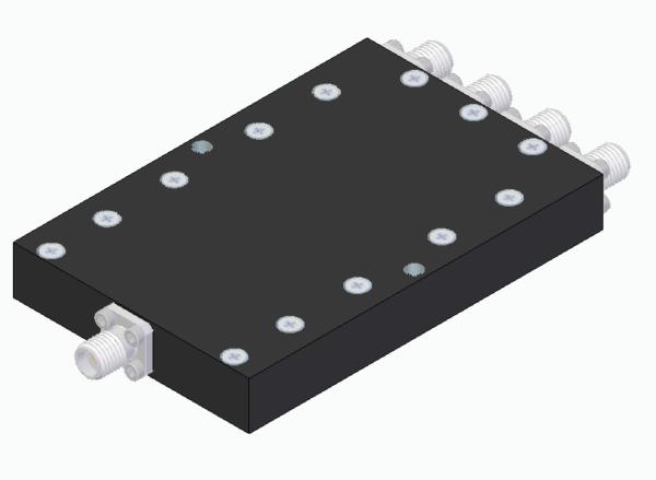 DETI MICROWAVE 4-WAY POWER DIVIDER 4,2-6,2 GHz 011214